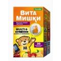 <b>ВитаМишки Мульти+ пастилки жевательные 2.4г уп N60