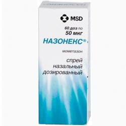 Назонекс спрей назальн дозир 50мкг/дз 60доз 10г фл