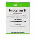 <b>Биосулин Н сусп д/и 100МЕ/мл 3мл картр N5